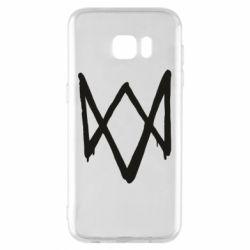Чехол для Samsung S7 EDGE Graffiti Watch Dogs logo