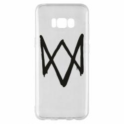 Чехол для Samsung S8+ Graffiti Watch Dogs logo