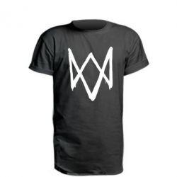 Удлиненная футболка Graffiti Watch Dogs logo