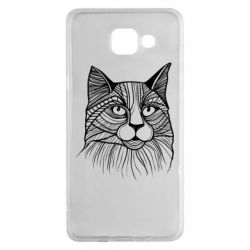 Чохол для Samsung A5 2016 Graphic cat