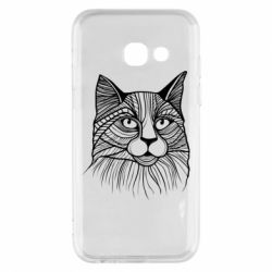 Чохол для Samsung A3 2017 Graphic cat