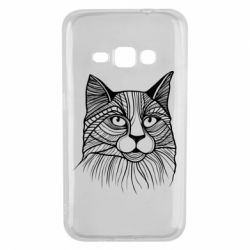 Чохол для Samsung J1 2016 Graphic cat