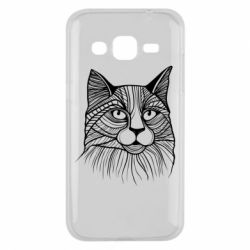 Чохол для Samsung J2 2015 Graphic cat