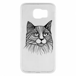 Чохол для Samsung S6 Graphic cat