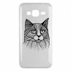 Чохол для Samsung J3 2016 Graphic cat