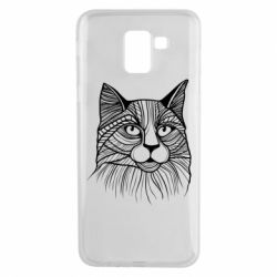 Чохол для Samsung J6 Graphic cat