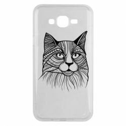 Чохол для Samsung J7 2015 Graphic cat