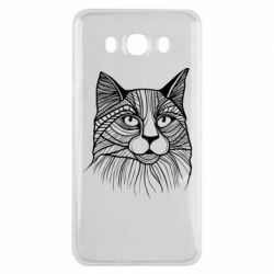 Чохол для Samsung J7 2016 Graphic cat