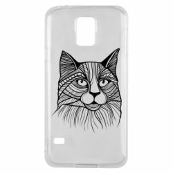 Чохол для Samsung S5 Graphic cat