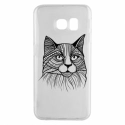 Чохол для Samsung S6 EDGE Graphic cat