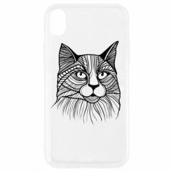 Чохол для iPhone XR Graphic cat