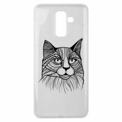 Чохол для Samsung J8 2018 Graphic cat