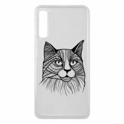 Чохол для Samsung A7 2018 Graphic cat