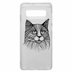Чохол для Samsung S10+ Graphic cat