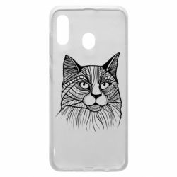 Чохол для Samsung A20 Graphic cat