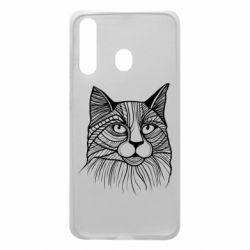 Чохол для Samsung A60 Graphic cat