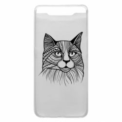 Чохол для Samsung A80 Graphic cat