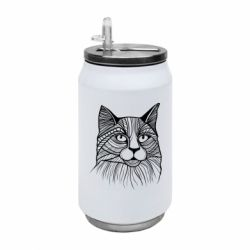 Термобанка 350ml Graphic cat