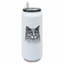 Термобанка 500ml Graphic cat