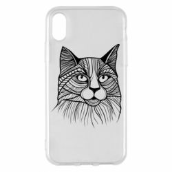 Чохол для iPhone X/Xs Graphic cat