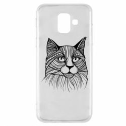 Чохол для Samsung A6 2018 Graphic cat