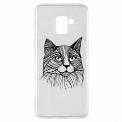 Чохол для Samsung A8+ 2018 Graphic cat