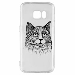 Чохол для Samsung S7 Graphic cat