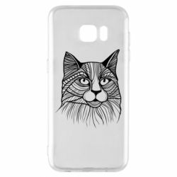 Чохол для Samsung S7 EDGE Graphic cat