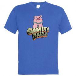 Мужская футболка  с V-образным вырезом Гравити Фолз 2