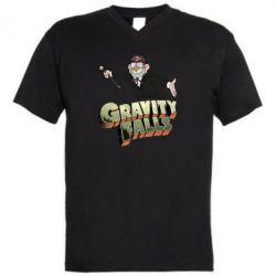 Чоловіча футболка з V-подібним вирізом Гравіті Фолз 3