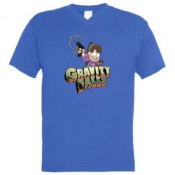 Чоловіча футболка з V-подібним вирізом Гравіті Фолз