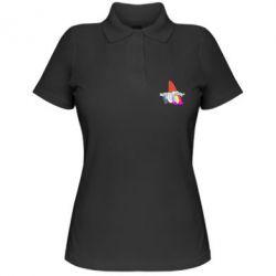 Жіноча футболка поло Gravity Falls, dwarf and rainbow