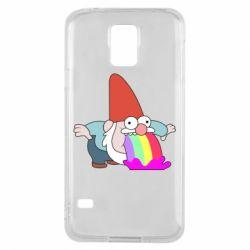 Чохол для Samsung S5 Gravity Falls, dwarf and rainbow