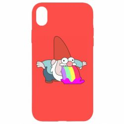 Купить Чехол для iPhone XR Gravity Falls, dwarf and rainbow, FatLine