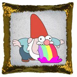 Подушка-хамелеон Gravity Falls, dwarf and rainbow