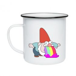 Кружка емальована Gravity Falls, dwarf and rainbow