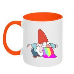 Кружка двоколірна 320ml Gravity Falls, dwarf and rainbow