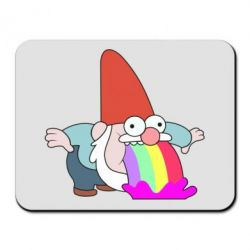 Килимок для миші Gravity Falls, dwarf and rainbow