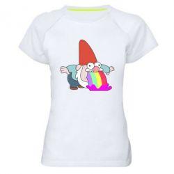Жіноча спортивна футболка Gravity Falls, dwarf and rainbow