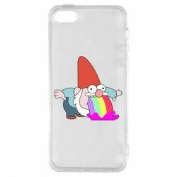 Чохол для iphone 5/5S/SE Gravity Falls, dwarf and rainbow