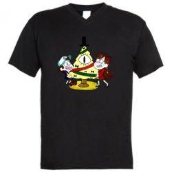 Чоловіча футболка з V-подібним вирізом Gravity falls: happy new year