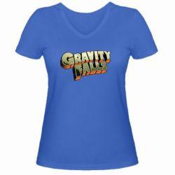 Женская футболка с V-образным вырезом Gravity Falls - FatLine