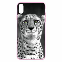 Чехол для iPhone X/Xs Gray cheetah - FatLine