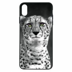 Чехол для iPhone Xs Max Gray cheetah - FatLine