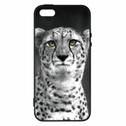 Чехол для iPhone5/5S/SE Gray cheetah - FatLine