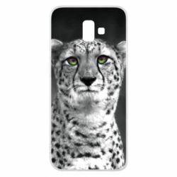 Чехол для Samsung J6 Plus 2018 Gray cheetah - FatLine