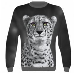 3D реглан (свитшот) Gray cheetah - FatLine
