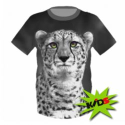 Детская 3D футболка Gray cheetah - FatLine