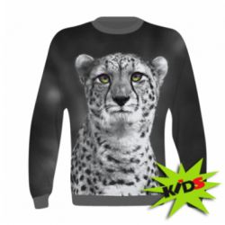 Детский 3D реглан Gray cheetah - FatLine