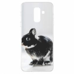 Купить Заяц, Чехол для Samsung A6+ 2018 Gray rabbit, FatLine